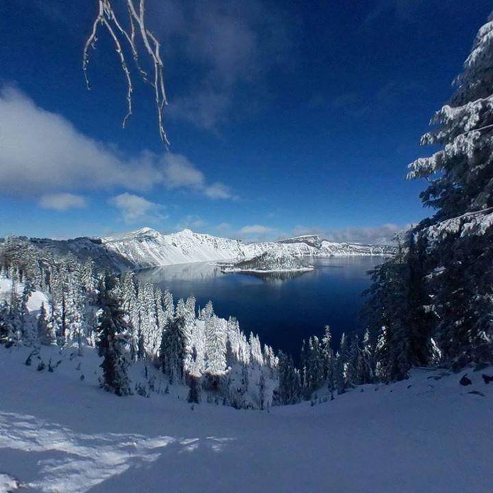 Crater Lake National Park Rv Glasparts Vintage Motorhome
